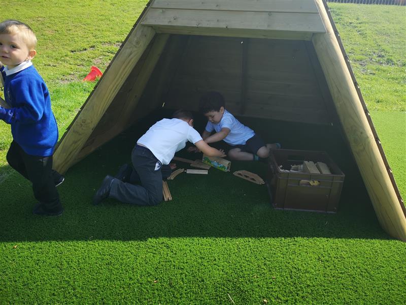 Playground Den Making