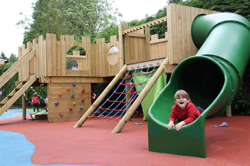outdoor timber play castle for schools