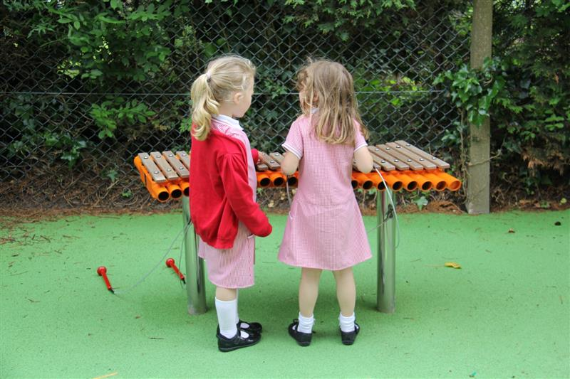 outdoor musical play equipment