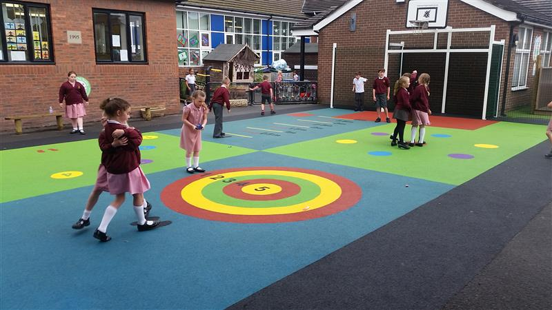 wetpour rubber playground surfacing