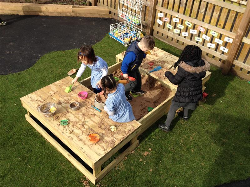 sensory playground equipment - sand box