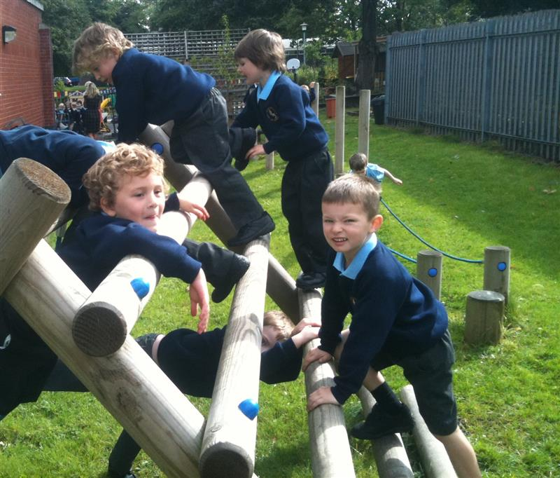 wooden climbing frame - free play