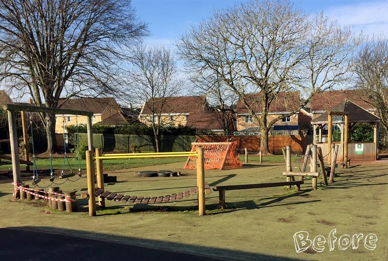 Before West Town Lanes Ninja Warrior Playground