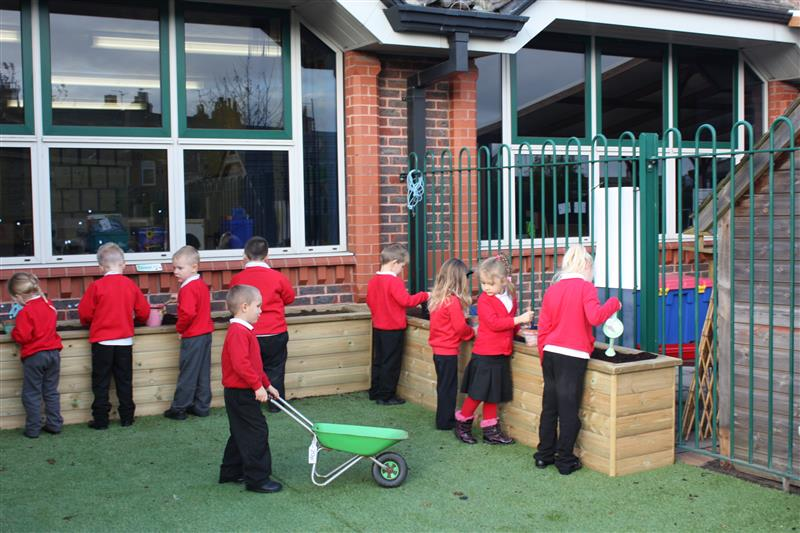 playground planters and natural equipment