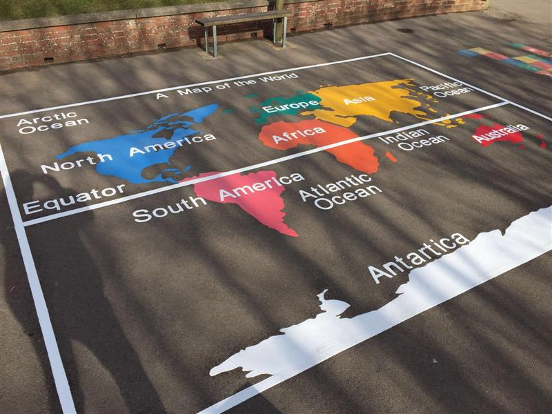 playground markings geography for schools