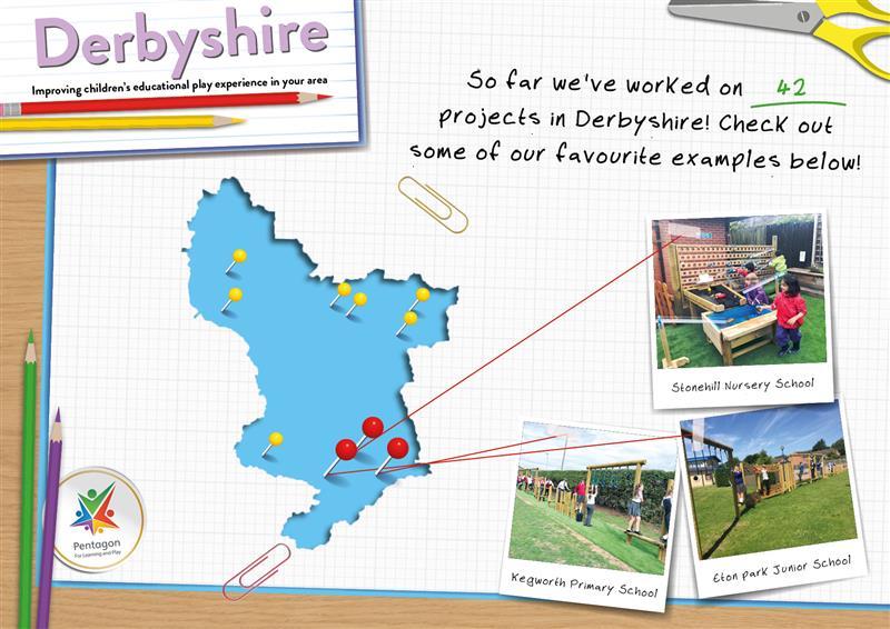 Pentagon Plays Playground Equipment in Derbyshire
