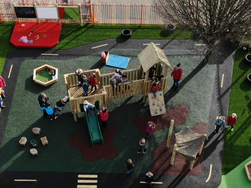 outdoor play area for nursery