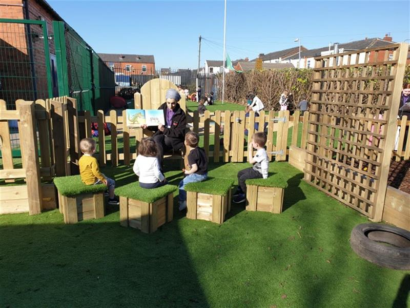 Outdoor seating for nursery gardens