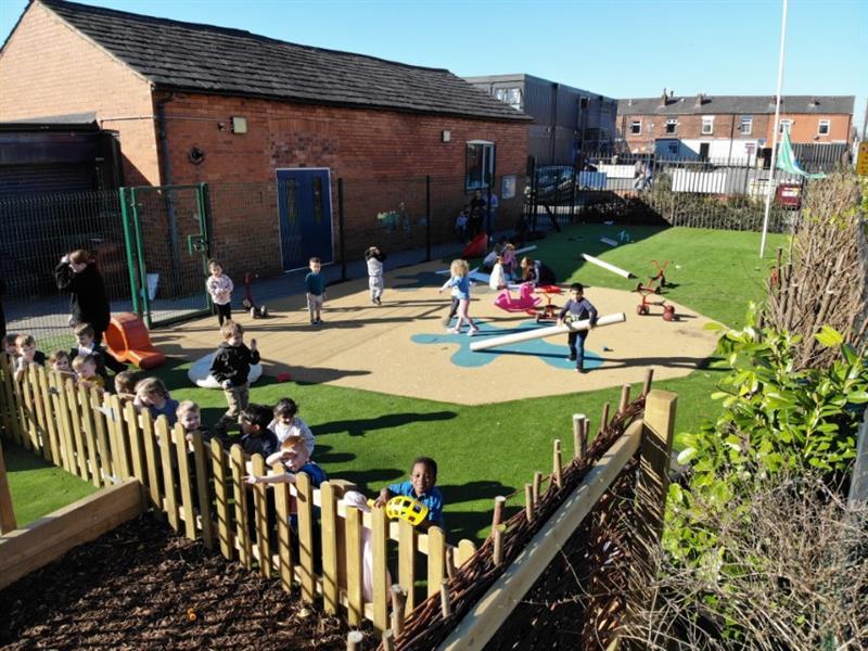 Nursery playground surfacing