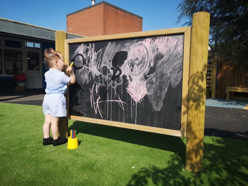 Giant Chalkboard For School Playgrounds