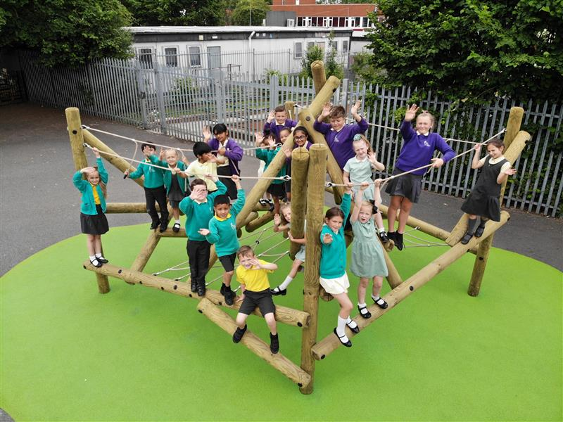 Climbing Frames For KS2 Children