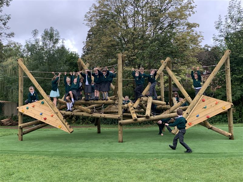 Log Climbing Frames For Schools