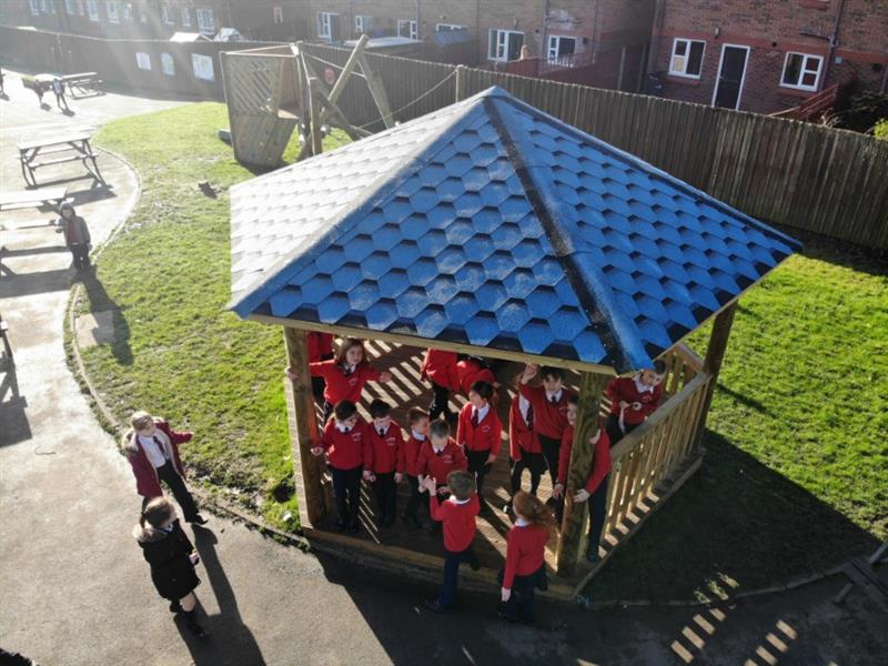 Timber Gazebos for Schools