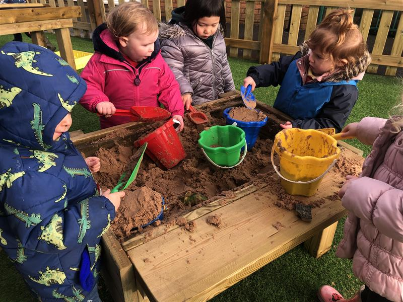 outdoor play develops children