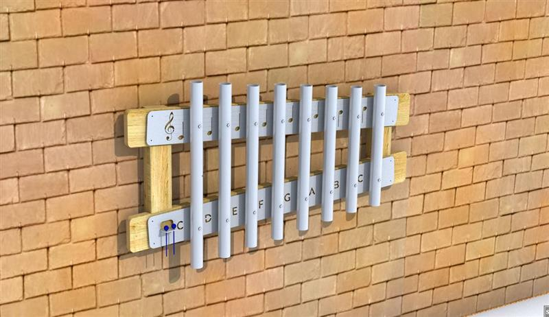 Wall-Mounted Playground Chimes