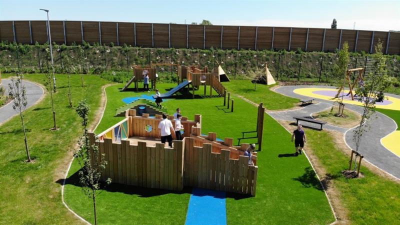 a birds eye view of a eyfs playground