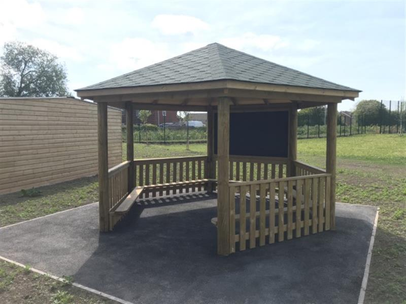 a picture of our gazebo