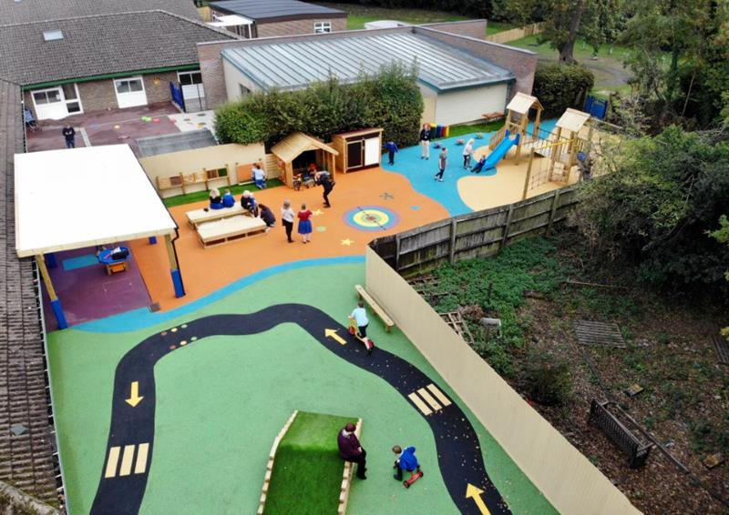 Playground surfacing for sen