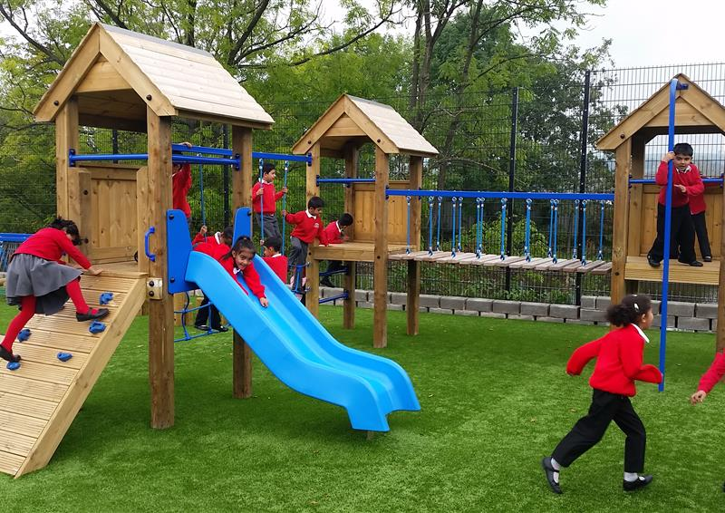 Trim Trails and Climbing Frames For Schools | Pentagon Play