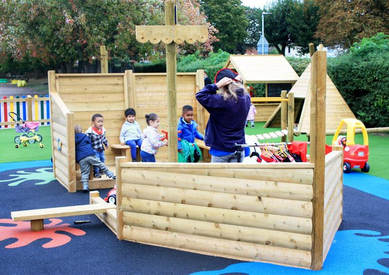 Themed play equipment for schools