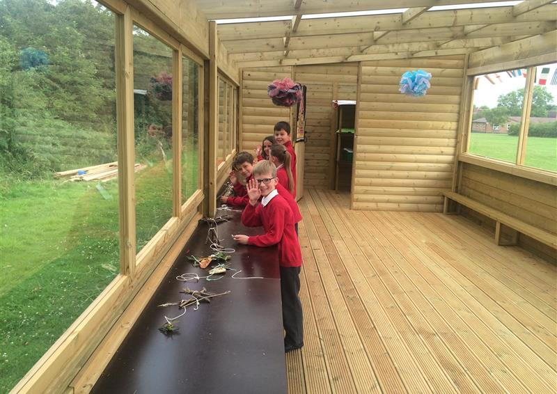 Outdoor cabins for schools