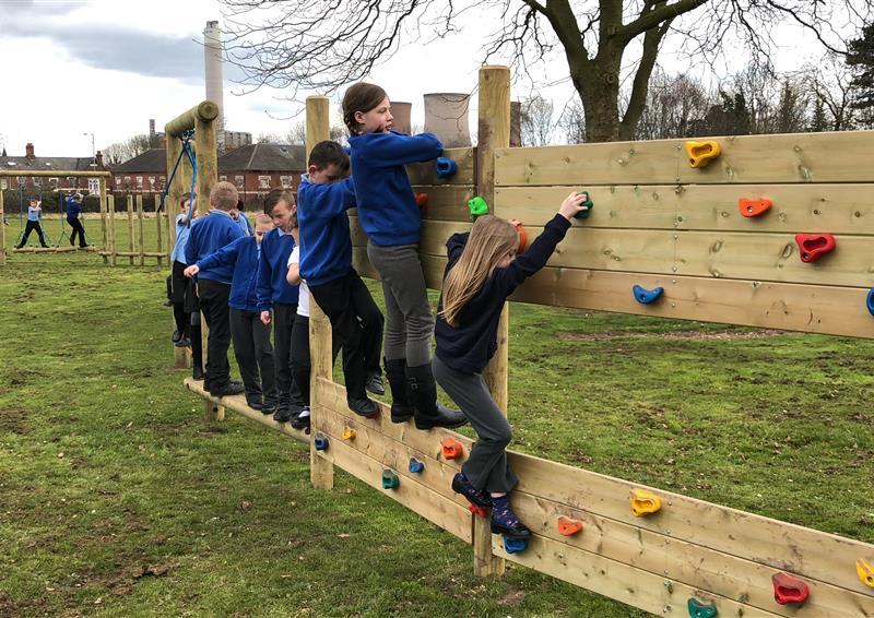 playground trim trails for schools