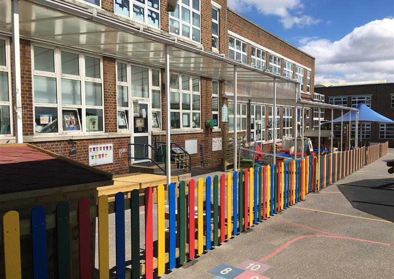 school playground fencing eyfs