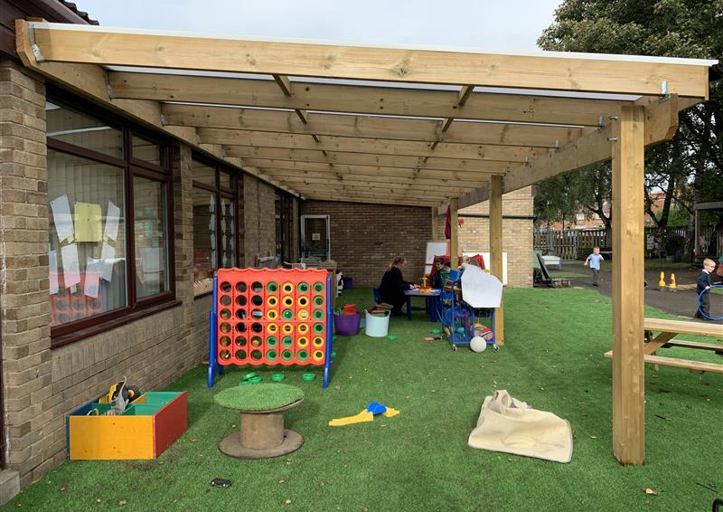 school playground timber canopies