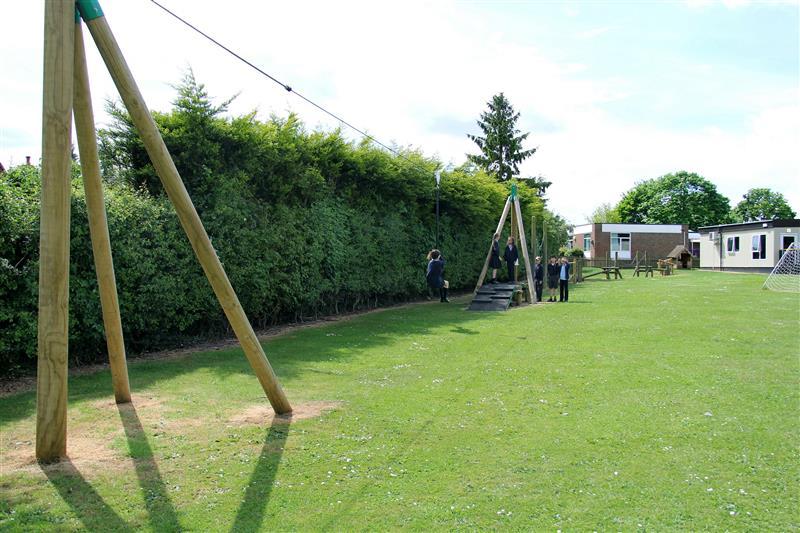Active playground equipment at Codicote Primary School