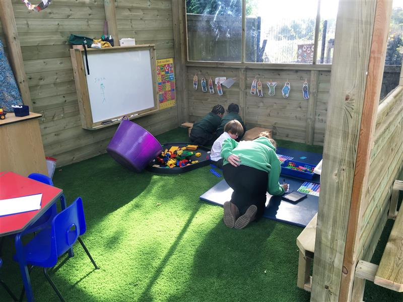 Inside an Outdoor Canopy Classroom