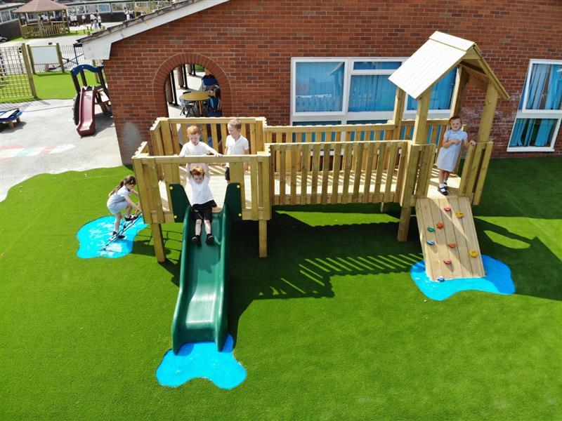 outdoor play tower