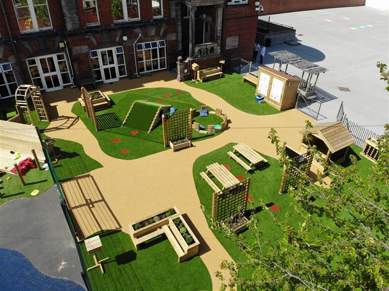 Natural Playground Equipment For Schools