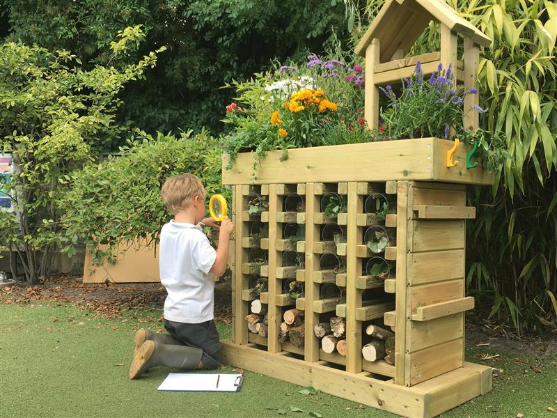 Bug Hotels for EYFS Playgrounds