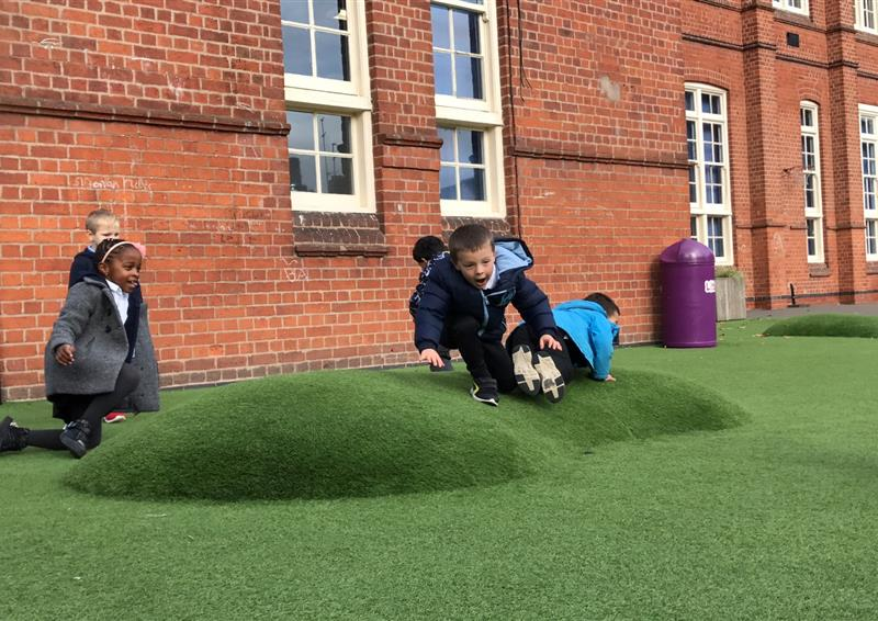 artificial grass mound