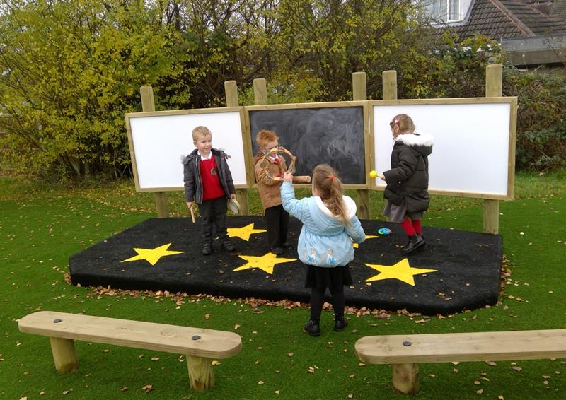 outdoor school stage eyfs